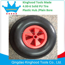 Puncture proof tyres 4.00-6 Farm Wagon Hand Trolley Wheel