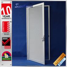 aluminum frame security mesh door with durable stainless steel mesh screen