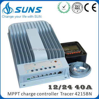 SUNS energy HOT! CE ISO approved 20A 30A 40A 12V/24V LCD/LED high efficiency mppt solar charge controller
