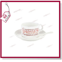 4oz white porcelain sublimation coffee mug with saucer printing custom image
