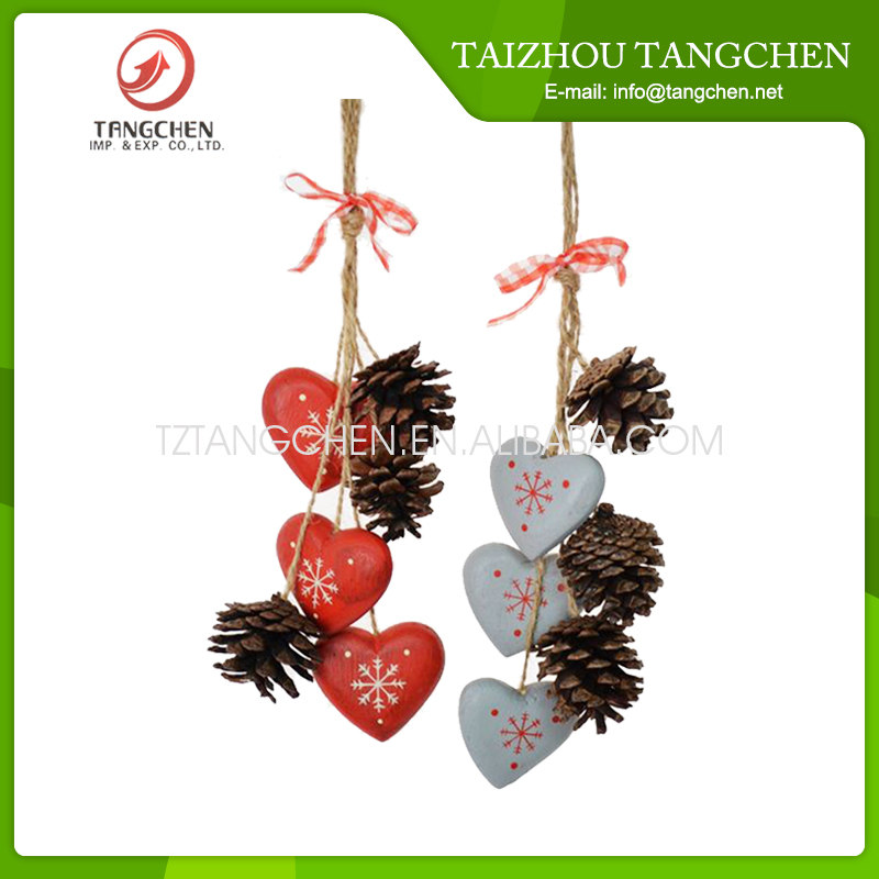 Heart shaped wooden hanging luxury car hanging ornament