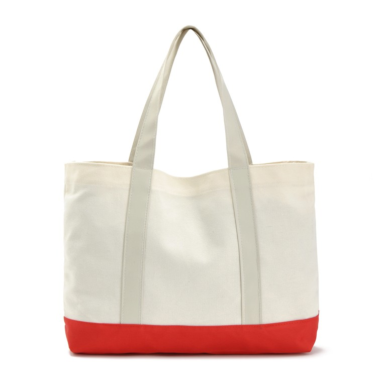 Promotional eco friendly natural handled shopping tote cotton bag