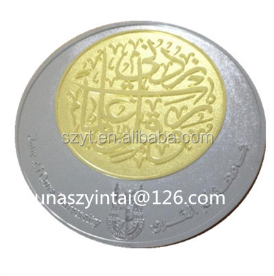 High quality custom 999 pure Saudi Arabia silver coin
