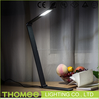 ODM wholesale folding led desk lamp office metal small decorative led table lamp with white shade