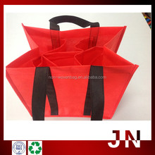 Alibaba Express Fashion Red Cheap Wine Carry Bag, non woven Wine Bag