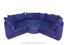 Custom made circular sofa design modern purple fabric sectional sofa