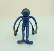 China factory cheap price products bendable toys/plastic flexible bendable toy/small pvc flexible toy figures