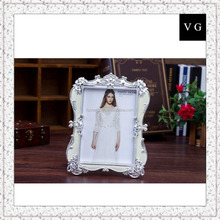 Polyresin pure white wedding 5x7 photo frame