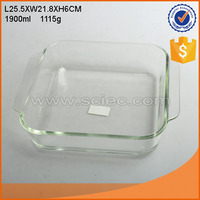 Square shape glass bakeware ovensafe deep plate dinnerware