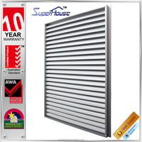 Australia standard as2047 unique aluminium frame adjustable electric aluminium window shutters