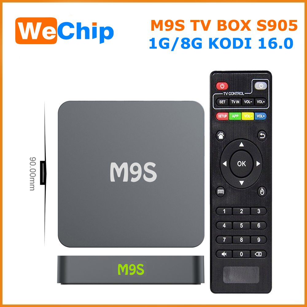 Android 5.1 lollipop KODI 16.0 TV BOX 4k quad core M9S Amlogic S905 Smart TV BOX better then M8S CS918