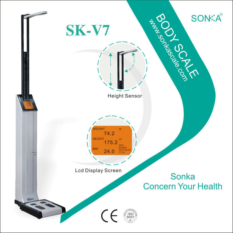Shop Online Weight Checking Machine New Body Scale for Hospital|Gym|Pharmacy|Community|Gas Station|Supermarket|Mall SK-V7