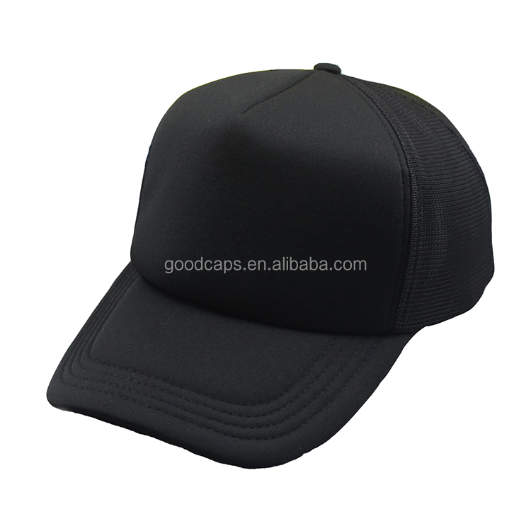 foam mesh 5 panel baseball caps and hats men customized strap back sports cap blank hat