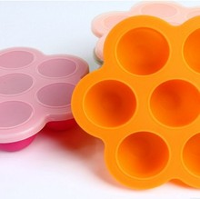 Hot Sell Bpa Free 7 Holes Silicone Egg Bites Mold Plastic Lid Infant Fit Instant Pot 5,6,8 Qt Pressure Cooker,Storage Container