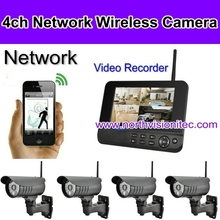 2.4ghz wireless digital usb camera with 1TB, 32GB sd card, 7 inch LCD, 800*480 resolution, IP66 watherproof