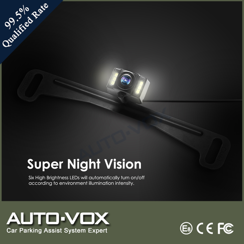 1/3 Inches HD image processor led sensor lights car parking reverse rear view camera
