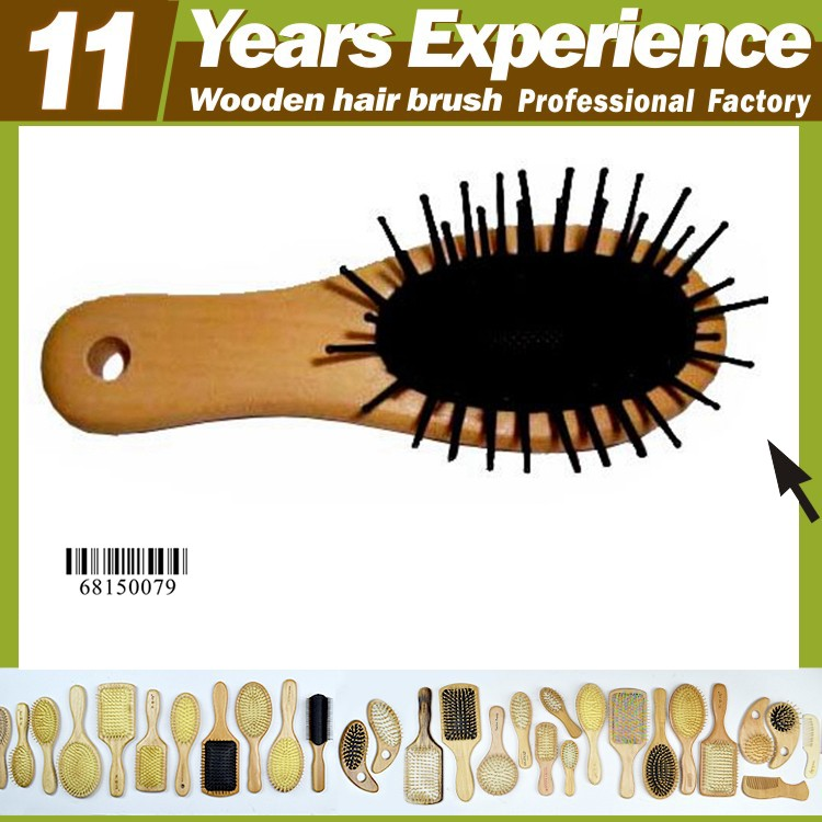 11 years experience professional hair brush wood manufacturer, Eco-Friendly natural bristle wooden hair brush