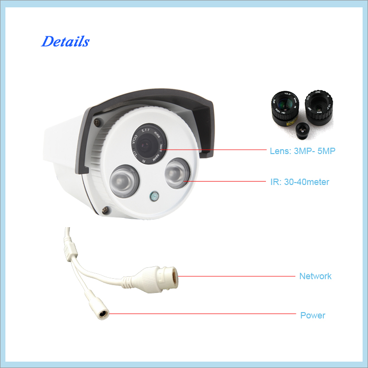 High frame rate 4 megapixel ip camera Ambarella P2P security camera