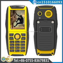IP68 Cellphone Dual Sm Card Best Rugged Mobile Phone India 2.2 inch W3 GSM 850/900/1800/1900MHZ Support multi-language