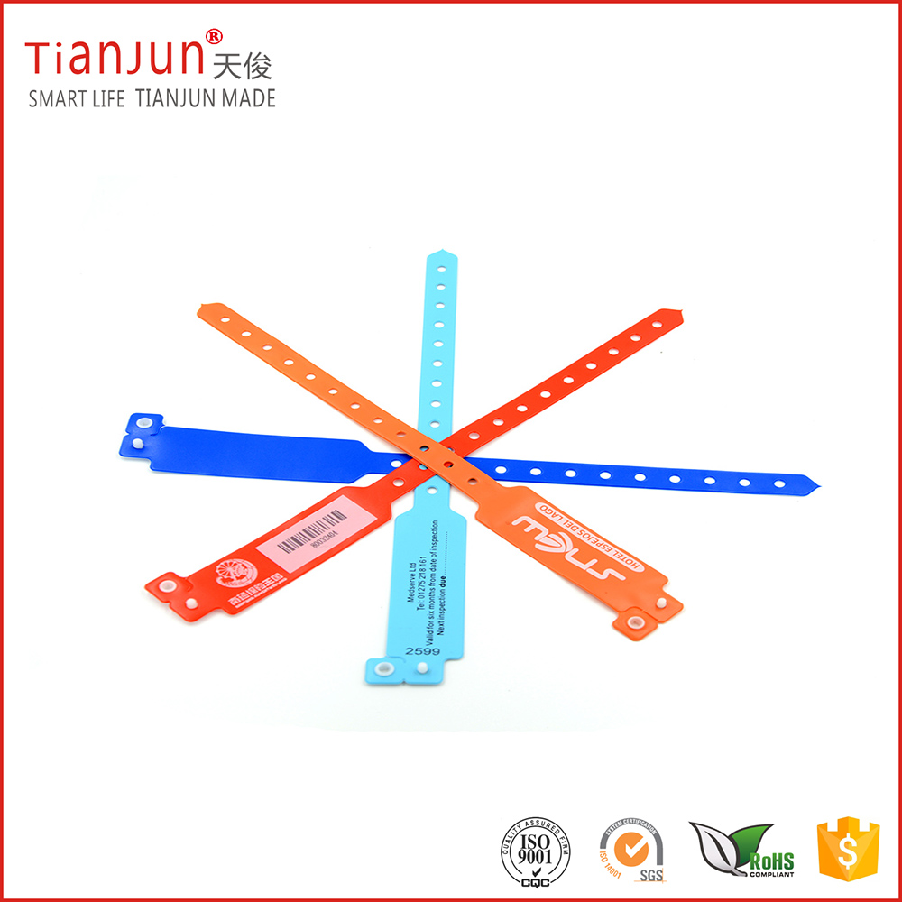 Disposable paper / pvc 13.56 mhz hf wristband rfid tag
