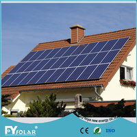 complete set off grid solar home system with solar inverter and battery and solar panel mounting