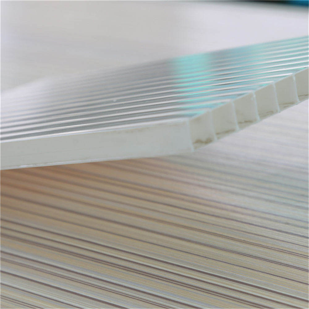China Supplier High Quality PC twin wall roofing panel polycarbonate celular sheet 10mm