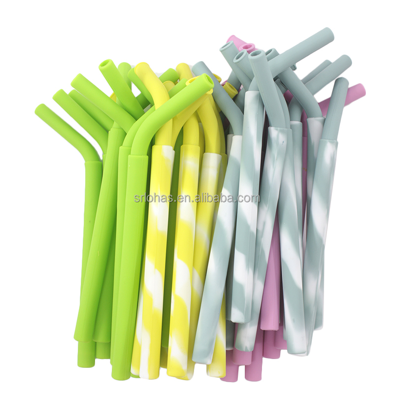 Hot Top Sale BPA Free Colorful Milk Elbow Straws Plastic Juice Straw Drinking Suckers