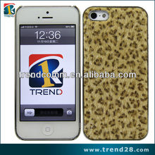 mobile phone accessory leather sticker hard pc case for iphone5