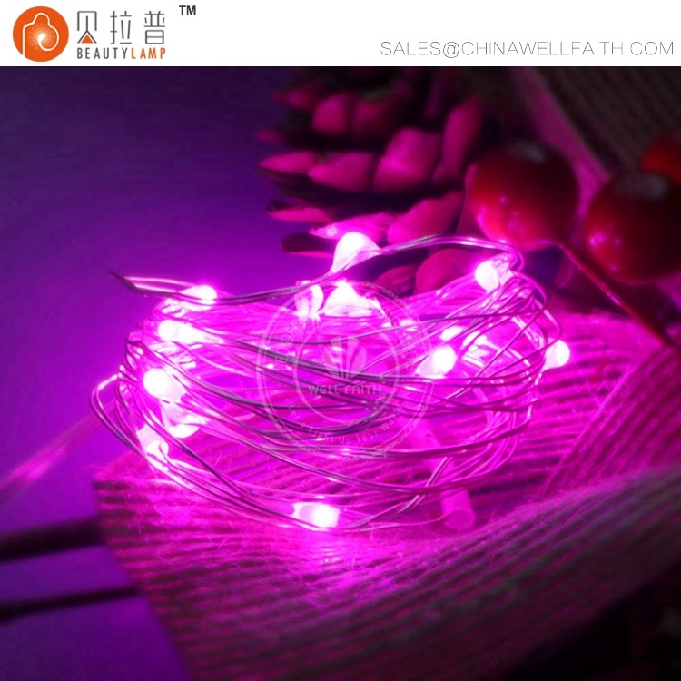 2AA battery operated silver wire decorative fairy string lights