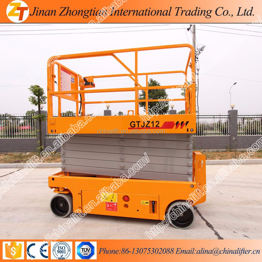 China battery power self propelled scissor lift electric hydraulic scissor man lift