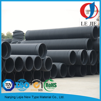 "8"" large diameter corrugated plastic drainage pipe price"