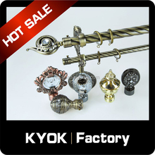 19mm aluminum curtain rod end caps , curtian rod finials and accessories