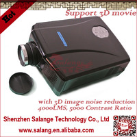 Best quality 3d lowest price led video projector 5000:1,2500 lumens movie theater proyector,low noise with hdmi usb