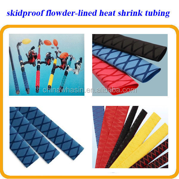 usage fishing tackles sports fittings,skidproof flower lined heat shrink tube
