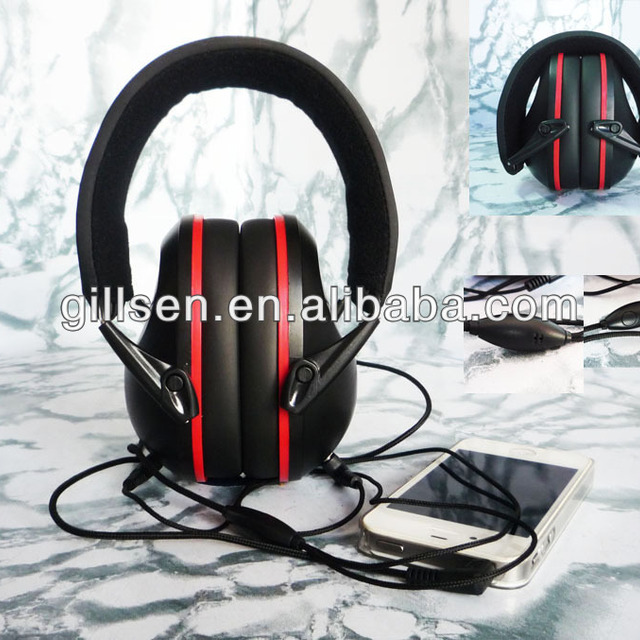 ear defender with earphone headset ear muffs
