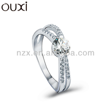 OUXI 2015 Fashion expandable fashion rings made with Crystal 40103