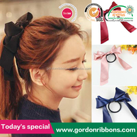 Womens Sweet Elastic font b Ribbon Bow-Band Hair Rope