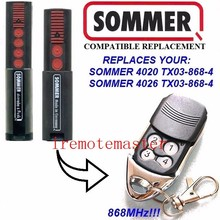 Aftermarket SOMMER 4020 TX03-868-4,FOR SOMMER 4026 TX03-868-4 remote control replacement 868MHZ