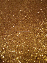 Factory Directly Sell Gold Sequin Fabric for Wedding, Garment, Shoes