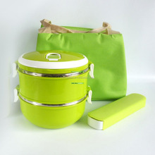 Hot Sales Great Stainless Steel Food Warmers Lunch Box Cutlery Set With Bag