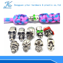 factory price metal skull beads,paracord skull beads wholesale,metal skull beads for bangles