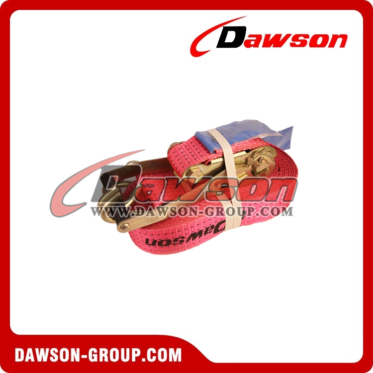 Dawson 2 inch 10000 lbs tie down ratchet straps assembly With double J Hook