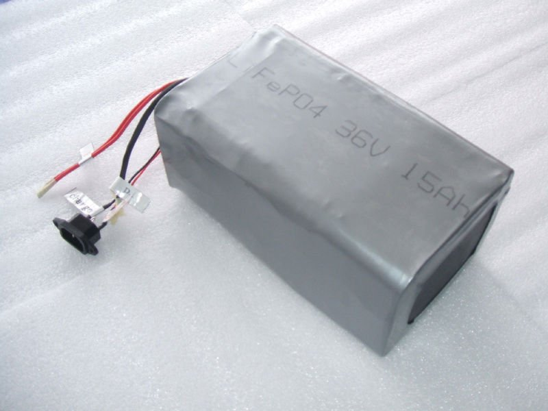 Manufactory wholesale 36V 15Ah LiFePO4 battery pack for two wheeled self-balancing electric vehicle