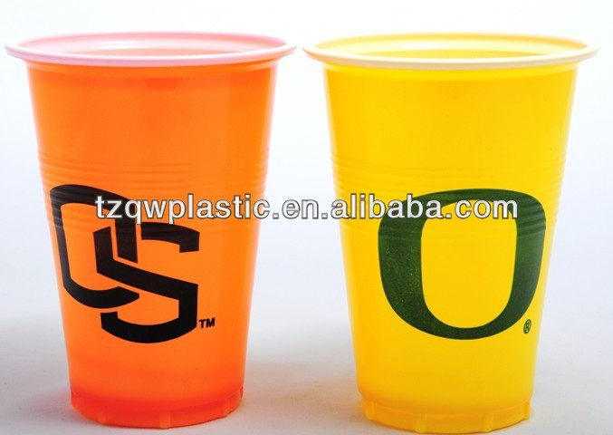 Colorful 16OZ Plastic disposable cup for drinking water