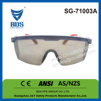 2016 Whosesale ce standard free sample cheap transparent safety glasses for sale