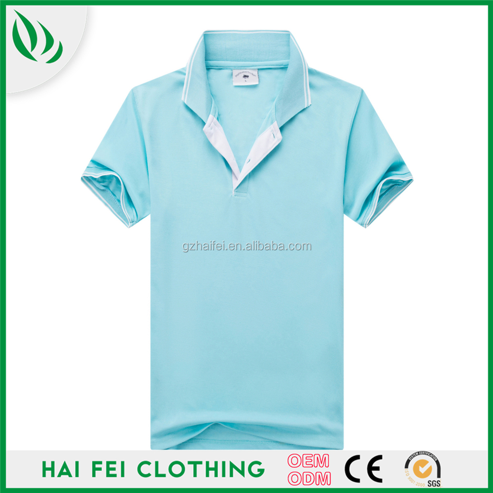 Guangzhou Haifei Bulk Wholesale Zip Collar Plain Polo T shirt , Custom Blank Polo Shirt Printing