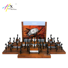 HUAXIN Professional Customization Watch Displays Luxury Wood Watch & Jewelry Display Stand