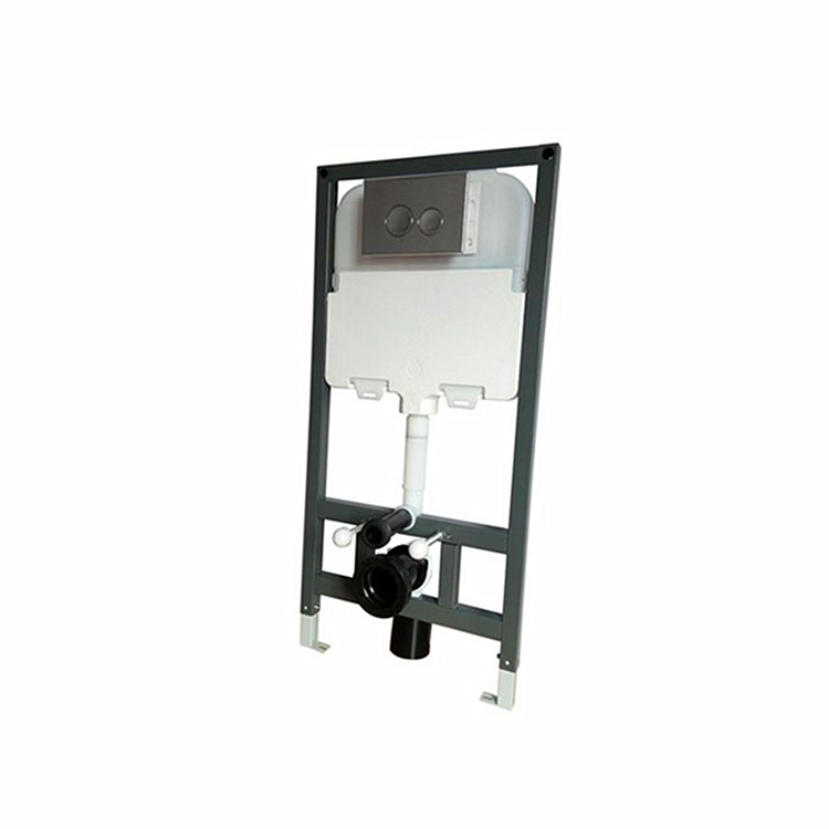 CE certified metal frame pneumatic toilet concealed cistern T7001