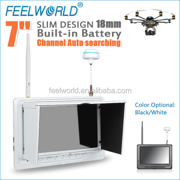 "FEELWORLD wireless 7"" no blue screen Built-in Battery monitor flying aeroplane toys"