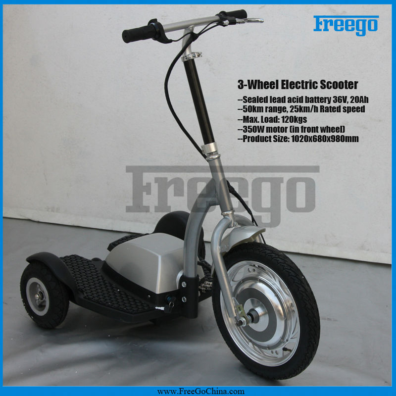 Freego ES350B 3 wheel adult three wheel electric scooter with seat